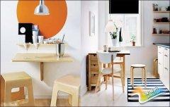 小户型餐厅都该有 这些省空间的折叠餐桌