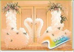婚庆场地布置图片赏析 用气球打造浪漫婚礼