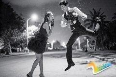如何拍夜景婚纱照 让爱情越夜越美丽