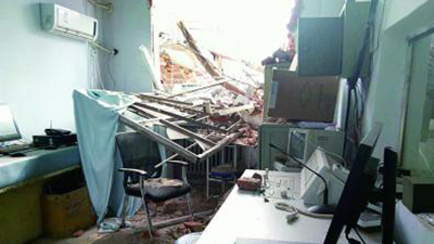 郑州医院接诊期间遭暴力强拆 医生病人险被埋