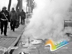 郑州西郊热力管道老化再次爆管 热蒸气铺天盖地 _郑州市劳动保障信息网