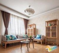 可以照着来 35平新中式客厅家具完美搭配
