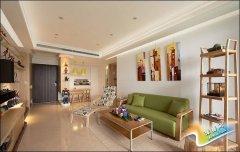 北欧原木风客厅也能这么装,色彩搭配棒极了!