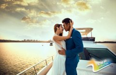 唯美婚纱照片欣赏 花海中的公主等待你的到来