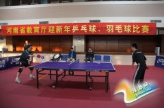 河南省教育厅举办厅机关迎新年羽毛球、乒乓球比赛