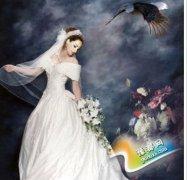 流行的手绘婚纱照