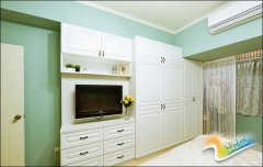 超实用储物设计 小资女的16平田园卧室