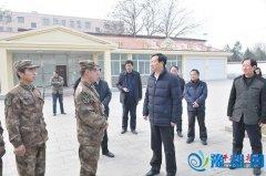 县委副书记代县长赵峰等县领导走访慰问驻地官兵