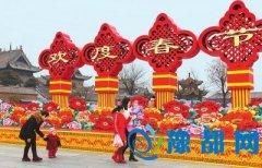 赊店镇中国结造型景观喜迎春节