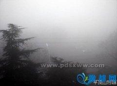 市气象台发布大雾红色预警 市区能见度不足50米