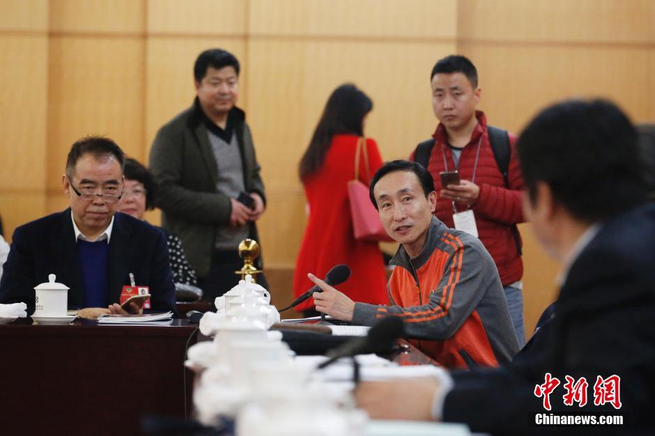 3月4日,全国政协十二届四次会议进行分组讨论。巩汉林在分组讨论时发言。 中新社记者 韩海丹 摄