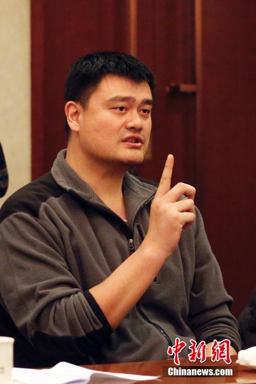 3月4日,全国政协十二届四次会议进行分组讨论。姚明在分组讨论时发言。 中新社记者 韩海丹 摄