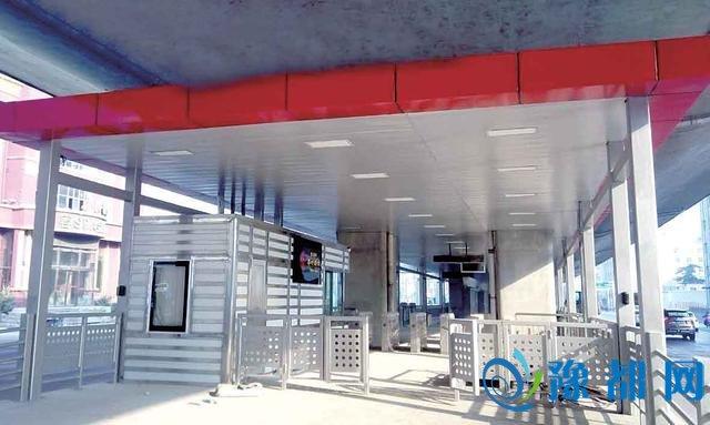 郑州陇海路BRT站台完工 1个站台双向免费换乘