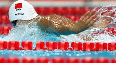 全国游泳冠军赛暨里约奥运选拔赛 选手拼尽全力
