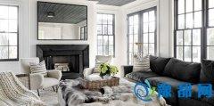 现代黑白空间13图温馨舒适四口之家