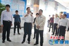 漯河市考察团来我县参观考察商务中心区建设