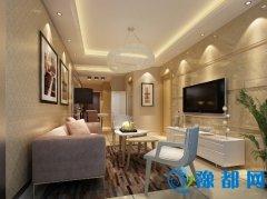 2套59平米现代简约装修效果图全包8万温馨一居室