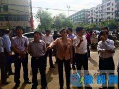 冯玉梅副市长到人民街道指导创卫工作