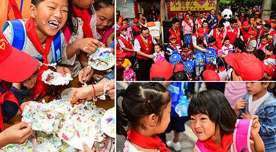 河南200余名爱心志愿者为农民工子女庆祝六一儿童节