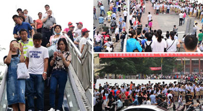 直击2016年河南高考 82万学子走进考场同场竞技