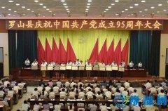 我县召开庆祝中国共产党成立95周年大会