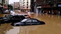 实拍:莆田市区街道全被淹 台风来临前遭暴雨袭城