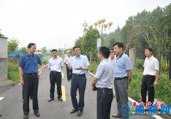 张怀德、赵峰等县领导就我县环保重点工作现场办公