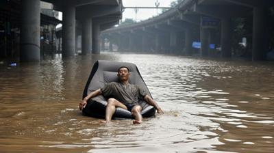 """郑州开启暴雨模式 下班的你打到""""船""""了吗"""