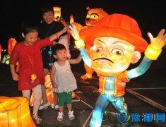 """淅川县首届""""和谐盛世 魅力渠首""""大型艺术灯会开幕"""