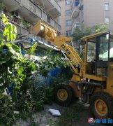 拆除小区违章建筑 还居民宜居环境
