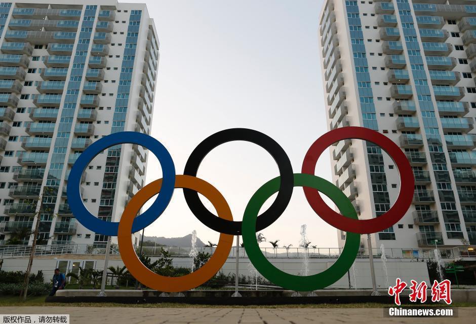当地时间7月23日,巴西里约热内卢,这个由新建的高层住宅构成的社区将成为近11000名里约奥运会参赛运动员以及约6000名教练等其他工作人员吃饭、睡觉以及训练的固定区域。