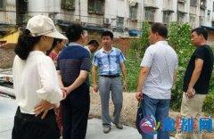 驿城区纪委书记李涛督导单位家属院创卫工作