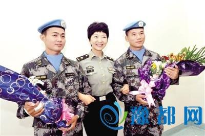 中国赴南苏丹维和受伤战士出院 回到部队驻地许昌