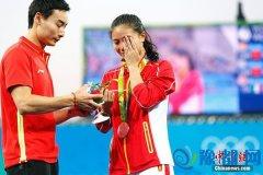 女子3米板 金牌施廷懋捧双冠 银牌何姿收获爱情