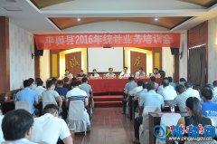 平舆县2016年统计业务培训会召开