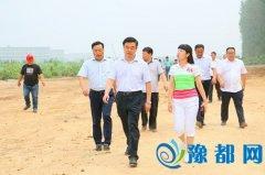区长徐光华调研产业集聚区和重点项目建设情况