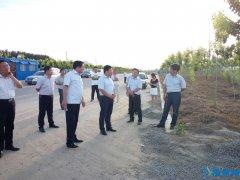 刘兵陪同市督查局副局长吕献甫督导检查项目建设及扬尘治理情况