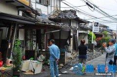 """熊本县时隔近两月再发震度""""5弱""""强震 无人受伤"""