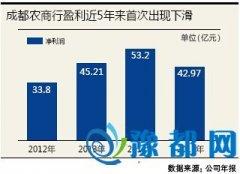 成都农商行盈利首次下滑近两成 被重庆农商行赶超
