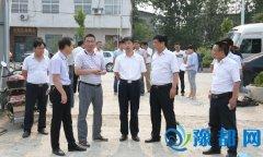 宋耀生等领导察看大气和水污染防治工作
