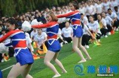 内蒙古高校举办那达慕运动会 拉拉队舞蹈吸睛