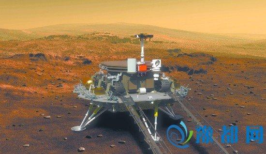 中国公布的火星着陆器外形设计。