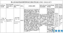 鲁山县食品药品监督管理局行政处罚信息公开表(20161107)