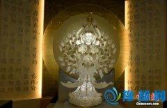 世界最大琉璃千手千眼观音展出