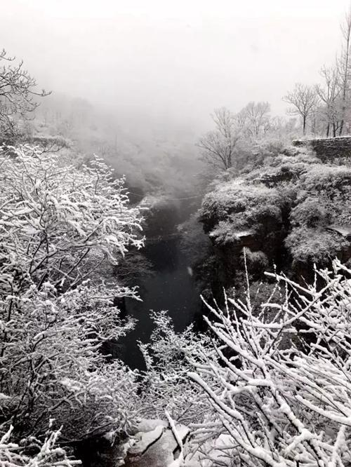 新乡南太行的第二场鹅毛般的大雪,雪静静地下了一夜,新乡南太行转眼间变成了人间仙境。