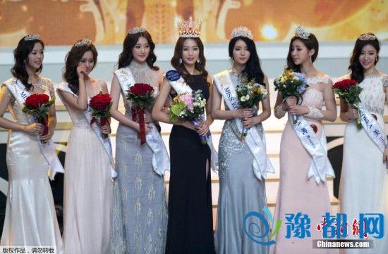 """资料图:2015年""""韩国小姐""""获奖佳丽。"""