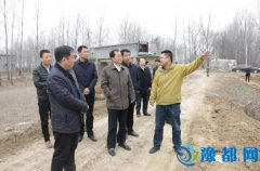 县委书记何天立调研村庄森林工程