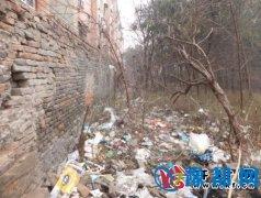 禹南东街药厂中区家属楼后形成垃圾带居民开窗不是看风景而是看垃圾