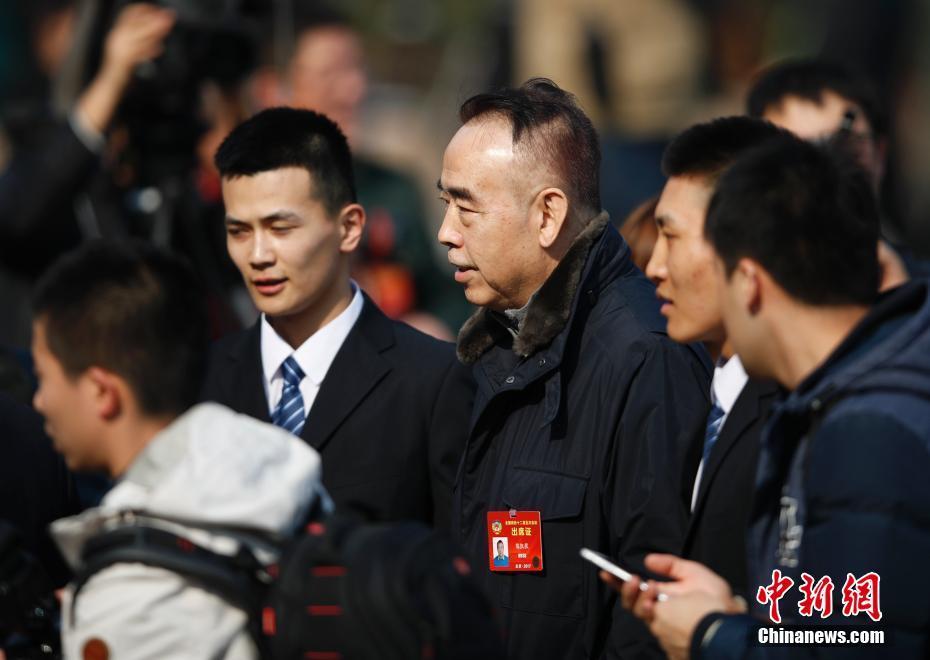 3月3日,全国政协十二届五次会议在北京人民大会堂开幕,陈凯歌委员步入会场。中新社记者 杜洋 摄
