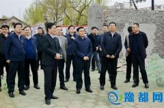 市委书记武国定到曹魏古城开发建设项目现场办公